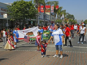 People take part in the Memorial Day Parade