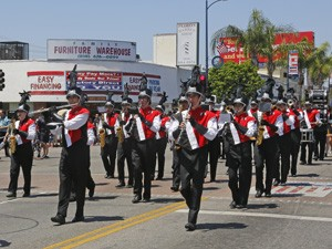 Memorial Day Parade marching band