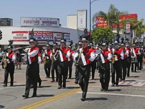 Memorial Day Parade marching band